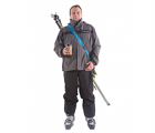 "The large blue SkiSling ski carrier - Suitable for skiers over 140cm (4' 6"")"