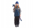 "The small black SkiSling ski carrier - Suitable for skiers under 140cm (4' 6"")"
