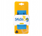 The large blue SkiSling ski carrier - Retail packaging includes a unique UPC barcode for each size/colour combo