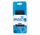 The small black SkiSling ski carrier - Retail packaging includes a unique UPC barcode for each size/colour combo
