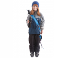 "The small blue SkiSling ski carrier - Suitable for skiers under 140cm (4' 6"")"